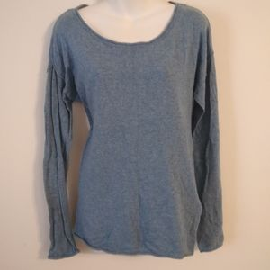 L.O.G.G. H&M Blue long sleeve slouchy shirt medium